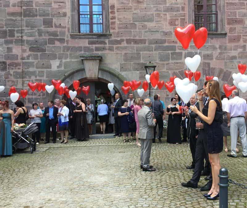 Schloss Plassenburg in Kulmbach Russische Hochzeit mit Tamada und DJ